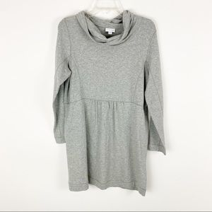 NWT J Jill gray mock neck sweater dress